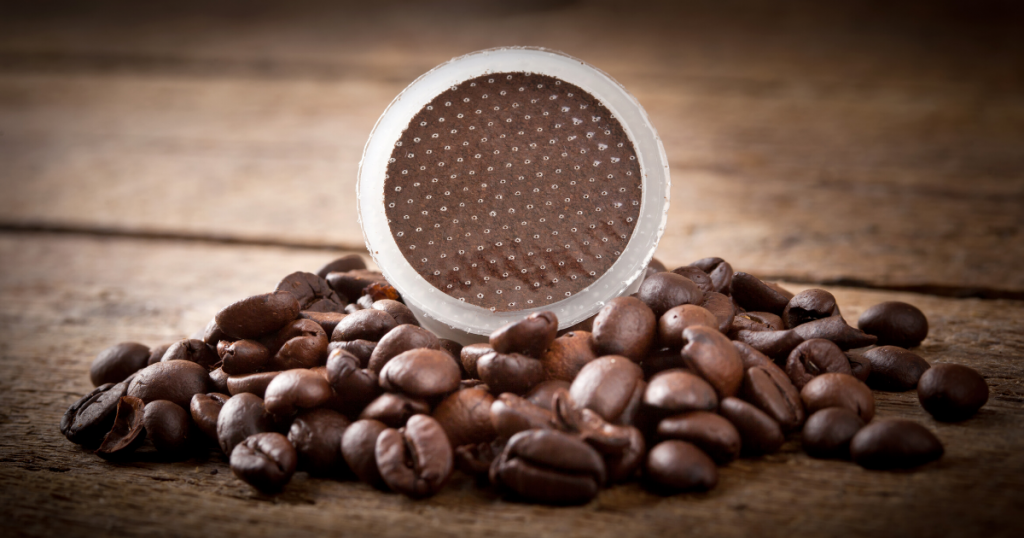 an image of the best reusable coffee pods on coffee beans