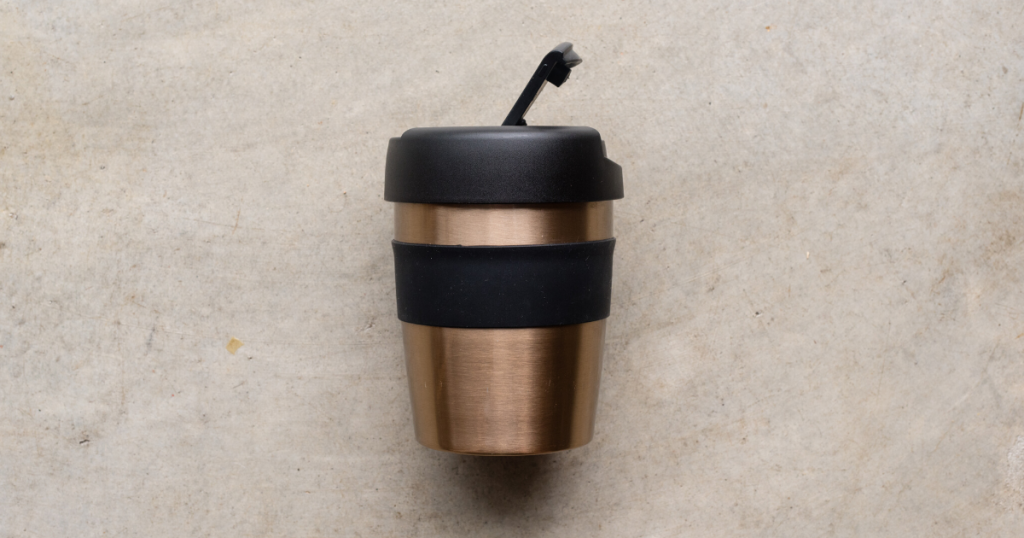 an image of the best reusable coffee cup made out of stainless steel
