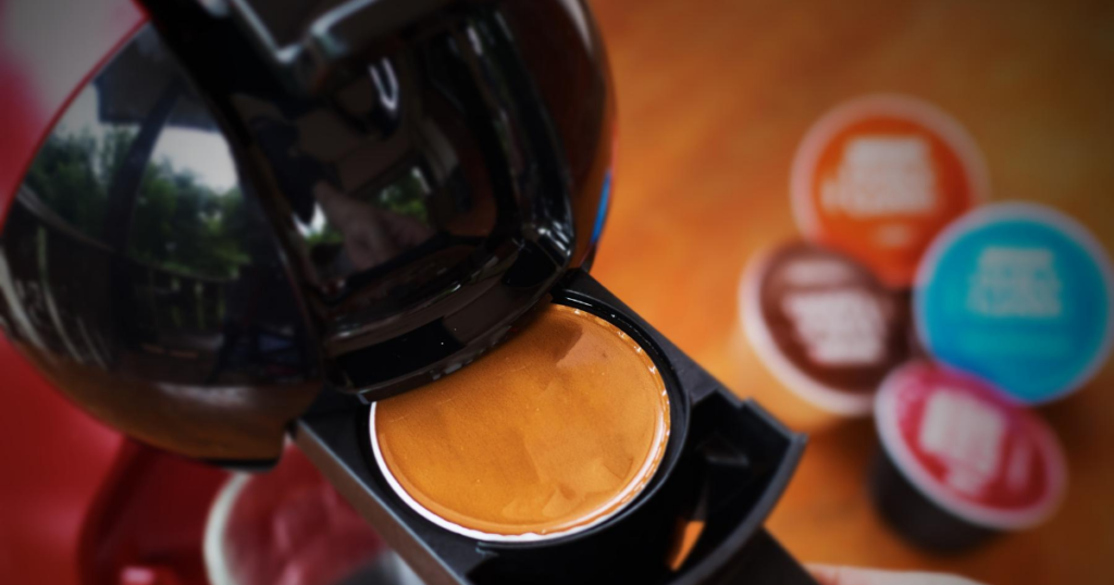 Close up image of one of the best capsule coffee machines