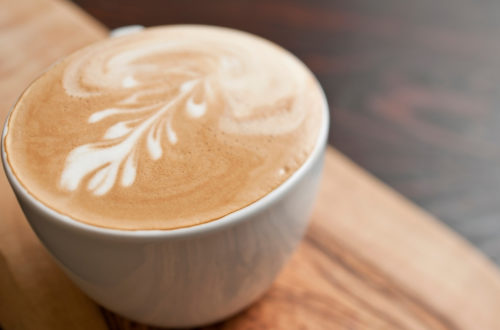 a photo of flat white coffee